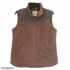 ASCEND Womens Pink/Tan Fleece Zip Vest